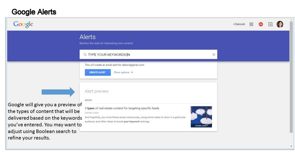 using google alerts for content curation